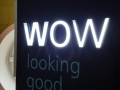 'WOW' illuminated lettering for Fabexx