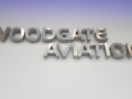 3D LED reverse lit Brushed stainless steel Woodgate Aviation