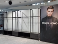 Remus Uomo doubled-sided illuminated retail display unit 6x2.4m