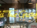 Argento All That Glitters yellow neon window panel