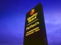 Quality Hotel double-sided Totem free-standing illuminated branding